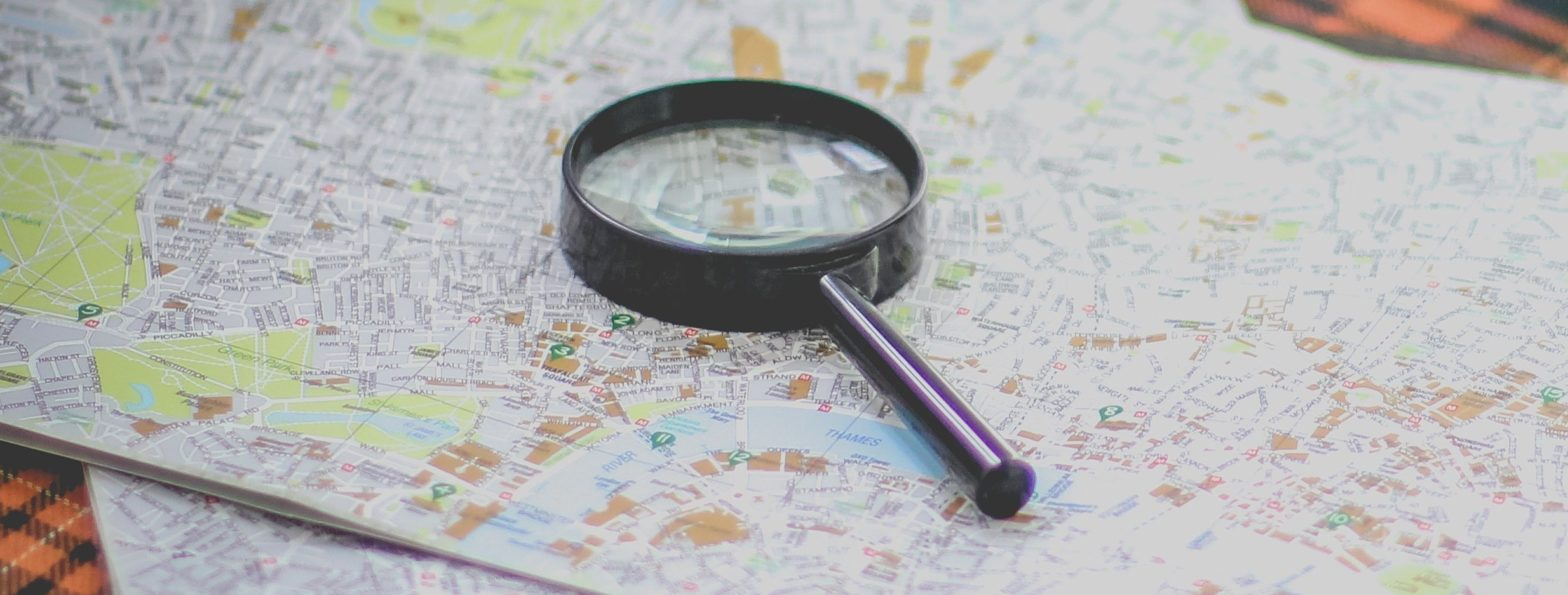 Magnifying Glass and Map by Francesca Tirico