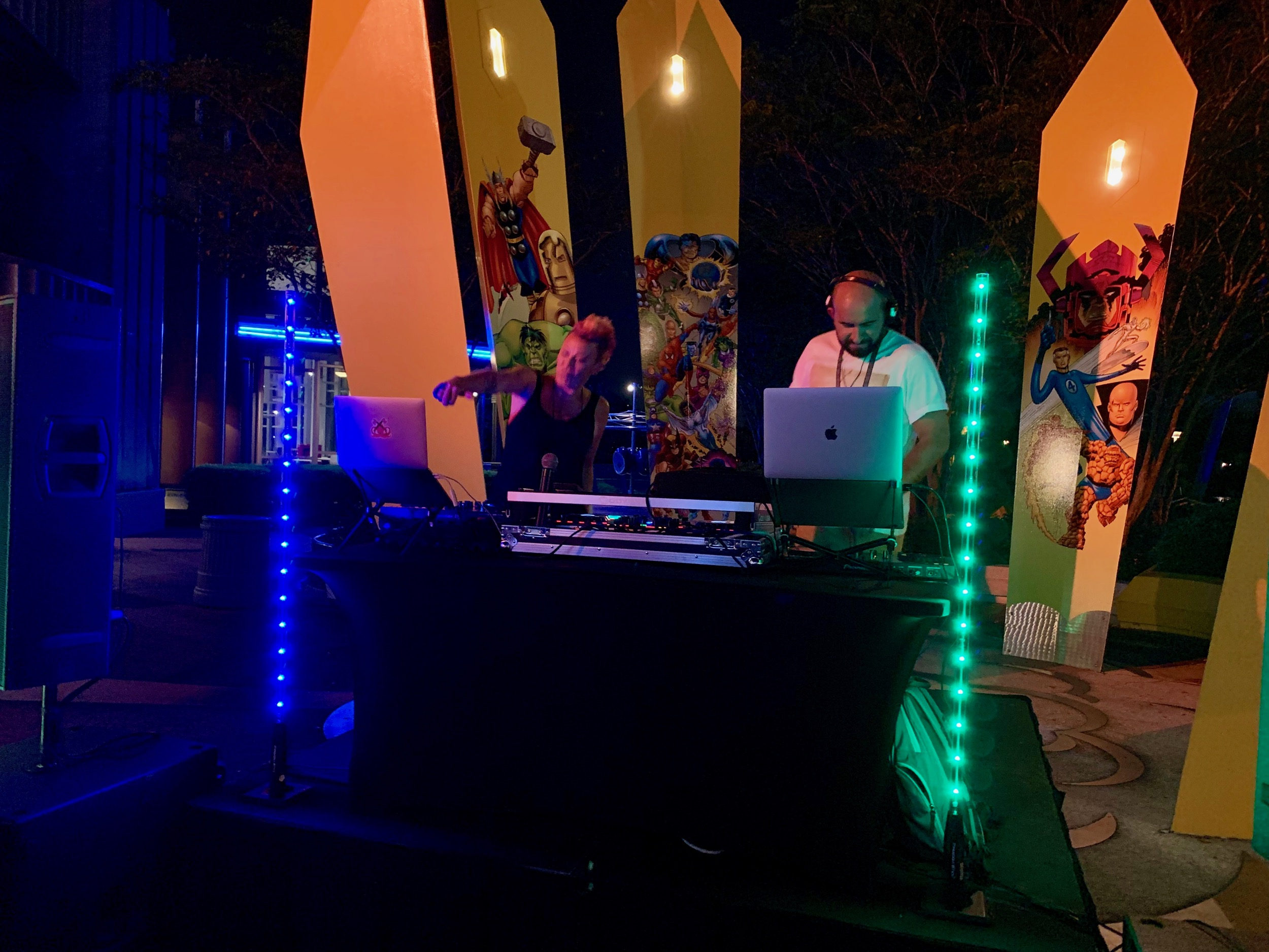 Automattic DJs at Marvel Super Hero Island